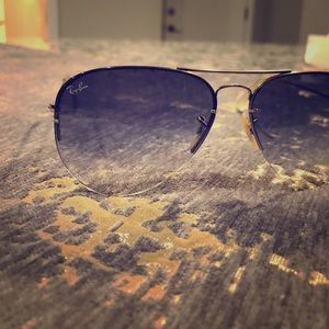 Ray-Ban blue tinted aviators